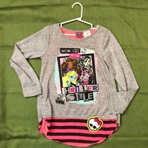 7/8 Girls Monster High shirt new